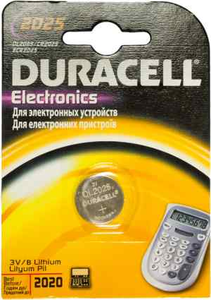 Батарейка Duracell Electronics DL2025/CR2025, 1 шт. - фото 1